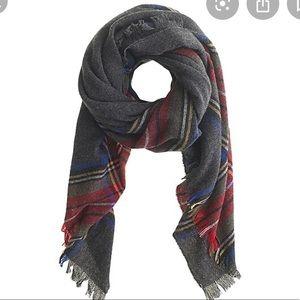 Jcrew wool plaid scarf